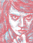 Scribbling A Face With 2 Colors In Krita by digit-Ds