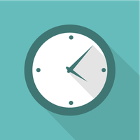 Flat Time Icon by dryopus