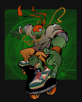 TMNT SK8R Mikey by theblindalley