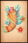 Tattoo Koi Fish by 8Bpencil