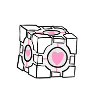 companion cube by CoolCodeCat