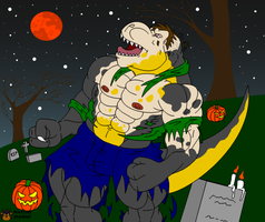 Halloween T-Rex by Maxime-Jeanne
