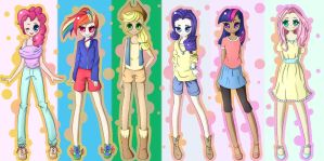 MLP human version~ by MarkianaTC