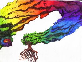 Rainbowtreecloudfloatything by Azoron