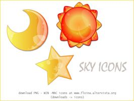 Sky icons by floina