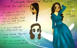 Character Profile for Fortscape: Hanna Dae Cape by ArielleN