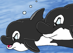 Hunting Orcas by Stampedian