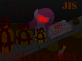 PARTY FACTORY poster by JISkidding by Hyperwave9000