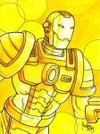 Sketchcard MvsC Golden War Machine by fedde