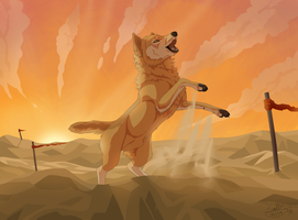 The desert dancer + SPEEDPAINT by Sally-Ce