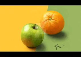 Apple and Orange by lihualicious