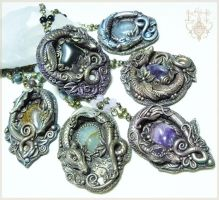 More Dragon Pendant-Made to order by EnchantedTokenArt