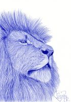 Blue Ballpoint Lion by Cindy-R