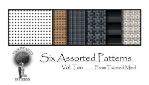 Twisted Mind Six Assorted Patterns Vol Ten by Textures-and-More