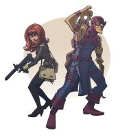 hawkeye and black widow by jimmymcwicked