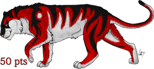 red tiger adopt by wolfhound56200