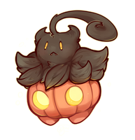 Pokemon - Happy First of Halloween! Pumpkaboo! by oddsocket