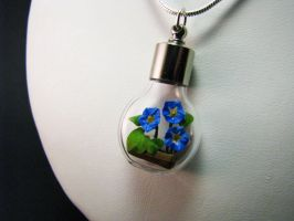 Miniature Origami Morning Glory Necklace by Paper-Peaches