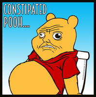 Constipated-pooh by Wormchow