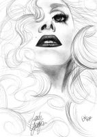 Speechless_LadyGaga by SkiDraw