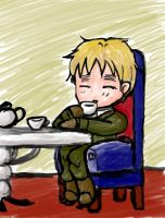 England and his tea by tigergal43