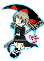 Chibi Maka and Blair by ChibiGaia