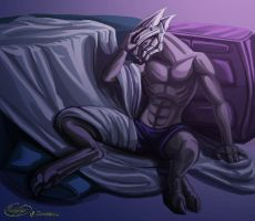 Morning Hangover - Commission by MuddyTiger