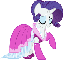 Rarity New Dress Vector by CrimsonBeat