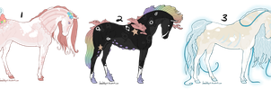 Collab Horse Adopts 2 by gyngercookie