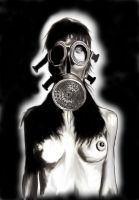 Gas Mask Chick2... by WikkedOne