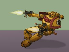 Imperial Fist dual-wielding by VA-Wolf