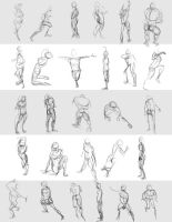 Gesture Drawings June 9 2014 (A) by bgates87