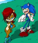 Sally and Sonic by Bonka-chan