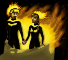 The Couple on Fire by StJammy