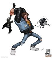 Guitar Hero - Axel Steel emo rules by cdavisart