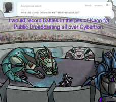 Ask Soundwave Question 10: Before the War by AgentWerehog