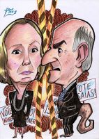 Caricature Minerva VS Isaias by Danlino
