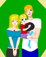 A 'Happy' Little Family by MisaMisaCupcake
