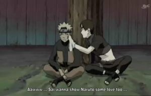 Sai's love for Naruto ... by molly4024