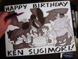 Happy BDay Ken Sugimori '12 by Gryphon-HB