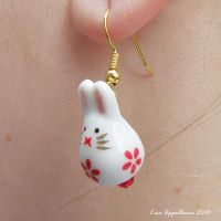 Bunny Earrings No. 6 by Cillana