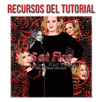 Recursos tutorial - Set fire to the rain by mauriadkins77