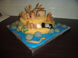 Pirate Island Cake 9 by BevisMusson