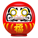 Japanese Daruma Doll by Trackdancer