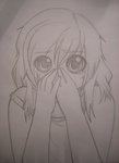 She forgot how to cry. (Pencil) by PencilBeatsPaper