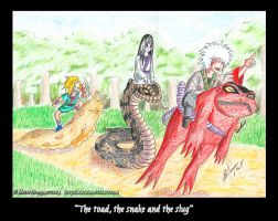 The toad, snake and slug by mette-miko