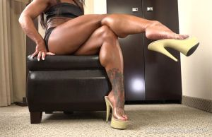 Delicious Calf Muscles and Dangle with Akane - LE by LegsEmporium