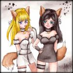 COMMISSION - Leane and Nina by Hana-Star-Neko