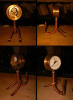 Copper Clock Creature by NightPhoenixArt