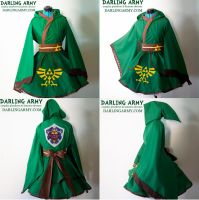 Link Legend of Zelda Hooded Cosplay Kimono Dress by DarlingArmy